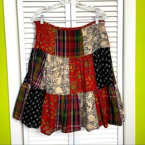 American living fall themed skirt size 8